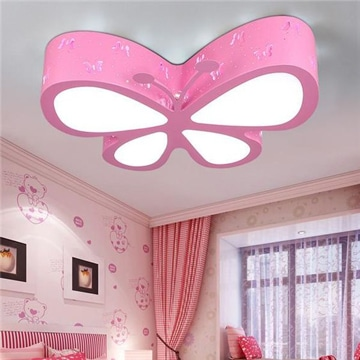lamparas de techo infantiles mariposa
