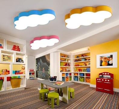 lamparas de techo infantiles nubes