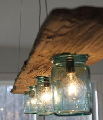 lamparas de techo para cocina reciclaje