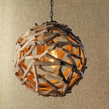 lamparas de techo para dormitorio madera reciclada