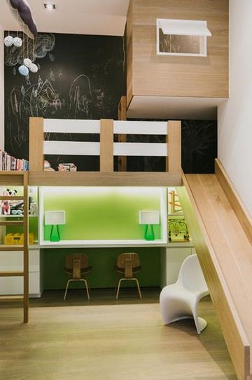 Literas con escritorio abajo para dormitorios peque os - Cama con escritorio abajo ...