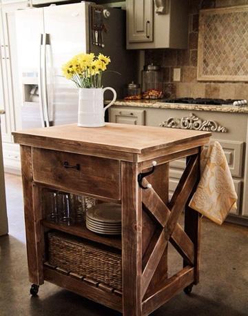 mesas de madera reciclada para cocina