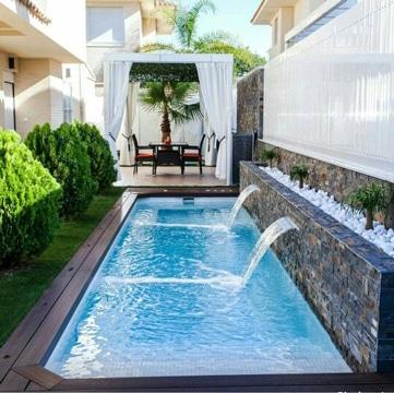 modelos de piscinas pequeñas con cascada