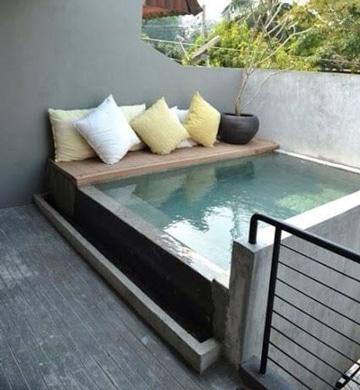 Modernos modelos de piscinas pequeñas para casas | Como decorar mi ...