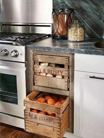 muebles de palets para cocina gaveta