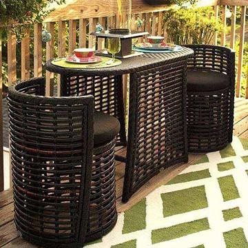 muebles para terraza pequeña comodos