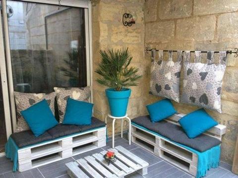 muebles para terraza pequeña con paleta