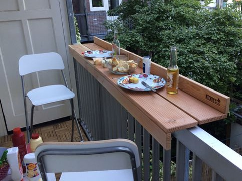 muebles para terraza pequeña creativo