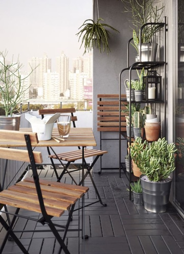 muebles para terraza pequeña de madera