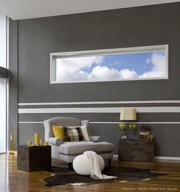 pinturas para salas modernas franjas