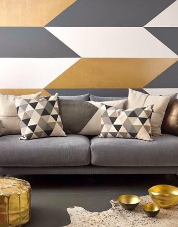 pinturas para salas modernas geometrica