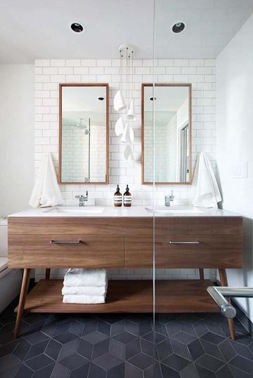 pisos para baños modernos negro