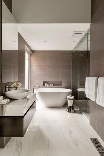 pisos para baños modernos y lujosos