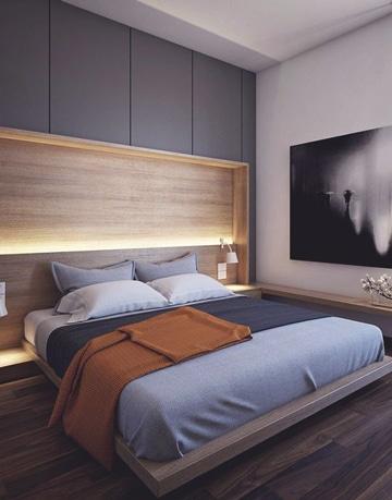 respaldos de cama modernos con iluminacion