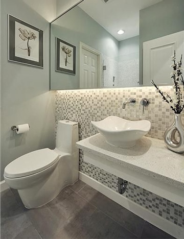 baños pequeños modernos y elegante con mosaico