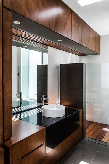 baños pequeños modernos y elegante en madera
