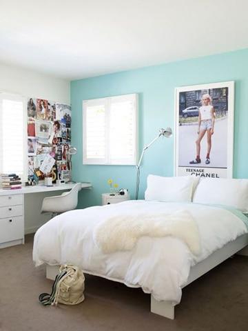 colores para habitaciones de mujer joven