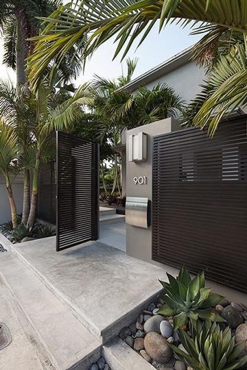 como decorar la entrada de la casa estilo moderno