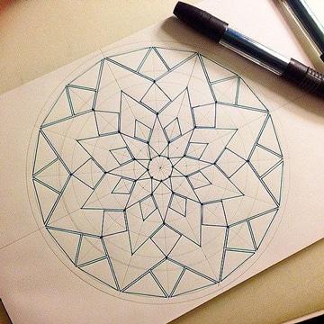 como dibujar mandalas paso a paso geometricos