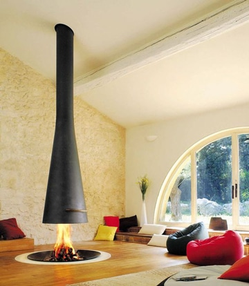 como hacer una chimenea decorativa metalica