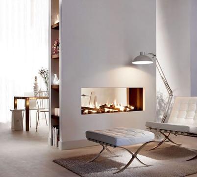 como hacer una chimenea decorativa minimalista