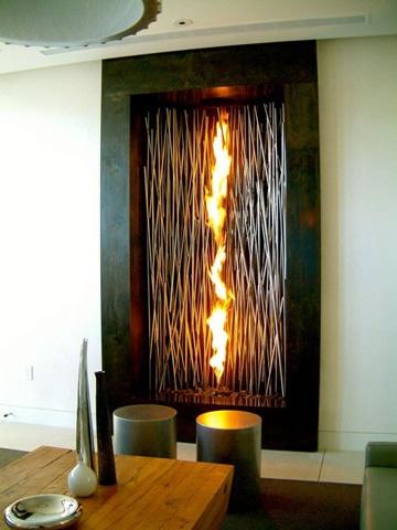 como hacer una chimenea decorativa moderna