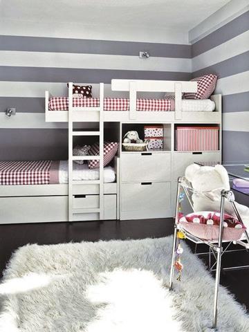 como pintar un cuarto de dos colores para niños