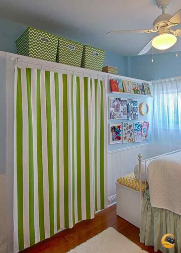 descubre modelos de cortinas para closets sin puertas