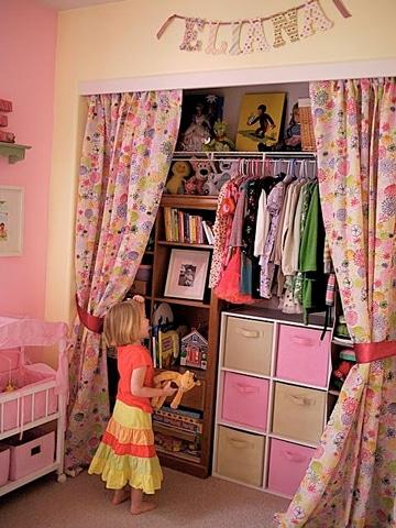 cortinas para closet sin puertas de niña
