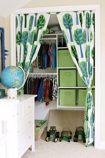 cortinas para closet sin puertas infantiles