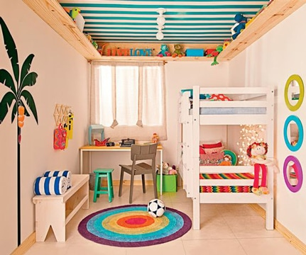 cuartos pequeños para niños compartido