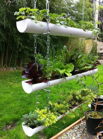 plantas colgantes decoracion de patios y jardines pequeos verticales - Decoracion Jardines Pequeos