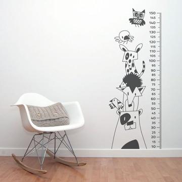 dibujos en pared de habitacion infantil
