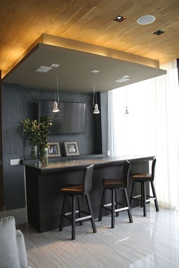 diseño de bares para casas elegantes