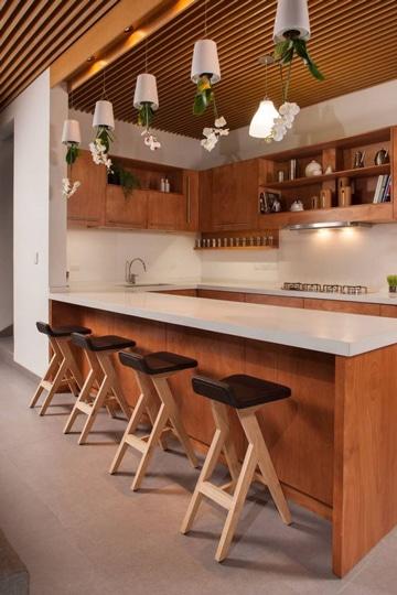 diseño de bares para casas en madera