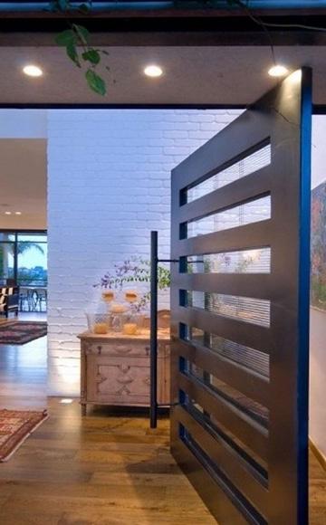 diseños de puertas de metal para casas diseño simple