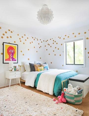 diseños para pintar cuartos con lunares