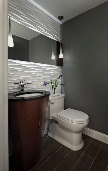 enchapes para baños pequeños y elegantes