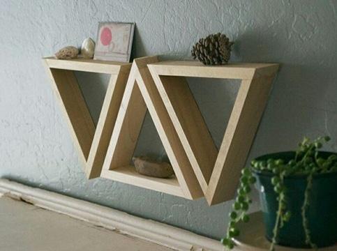 imagenes de repisas decorativas triangulares