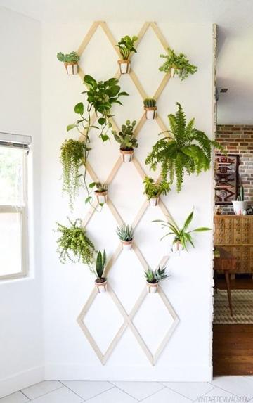 paredes decoradas con flores naturales
