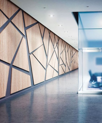paredes decoradas con madera diseño geometrico