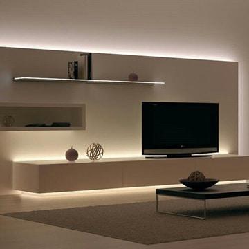 repisas flotantes para tv con luces