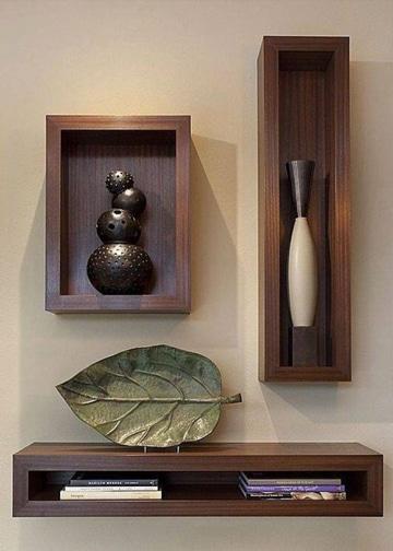 Renueva tu casa con estas repisas modernas para salas for Bar de madera para sala