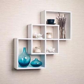 repisas modernas para salas geometricas