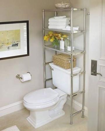 repisas para baños pequeños metalica