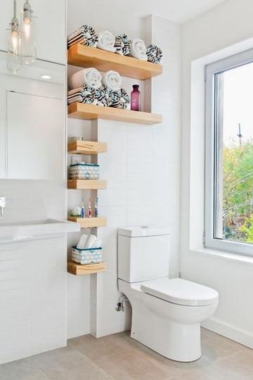 repisas para baños pequeños minimalistas