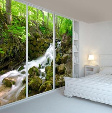 vinilos para puertas de armarios de paisaje