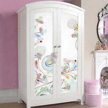 Pegatinas infantiles para muebles affordable vinilos for Vinilos para armarios infantiles