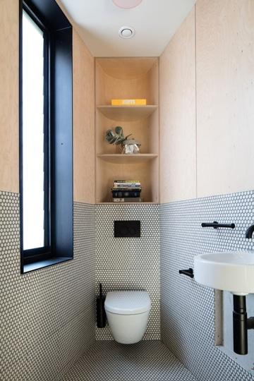 baños pequeños modernos y elegante colores claros