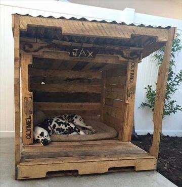 casas de perros recicladas con palet